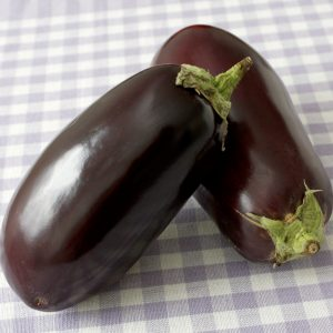 Eggplant on table