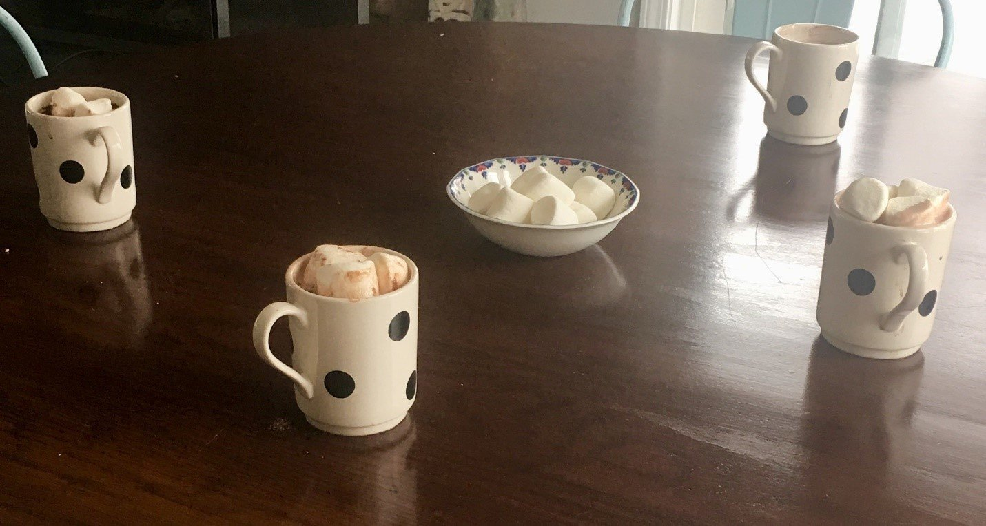 Cocoa Cups on table