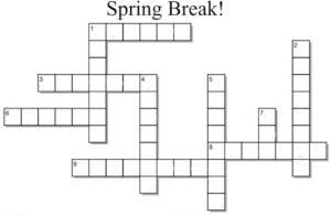 Spring Break Crossword